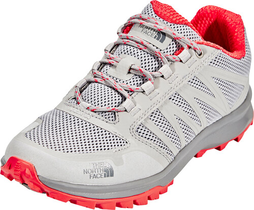 The North Face Damen Litewave Fastpack Trekking-& Wanderhalbschuhe, Grau (Foil Grey/Cayenne Red), 41 EU